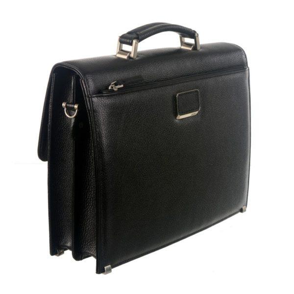 crna muška torba za posao od koze