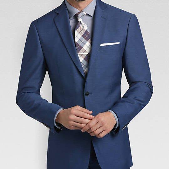 odelo, odela, muska, slim, fit, strukirana, plava, plavo