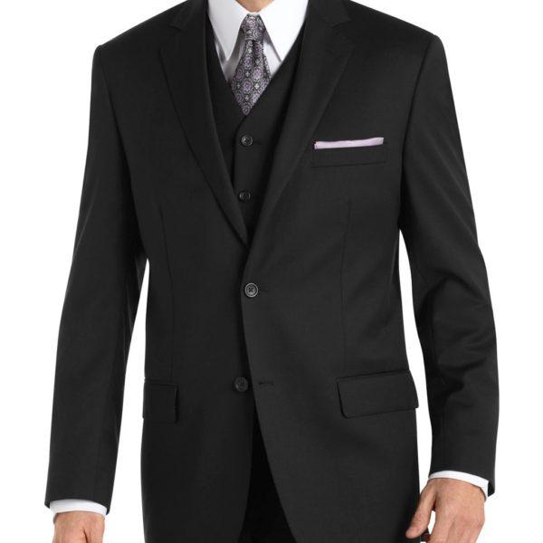 crno odelo sa prslukom