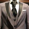 musko smoking odelo, sivo